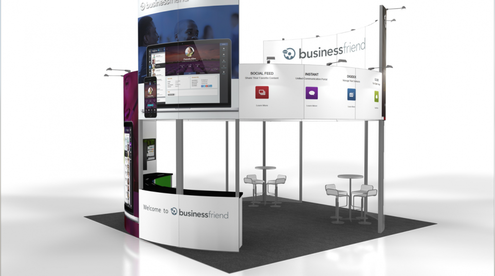 20×20 Exhibit Rental Design We Love: Business Friend